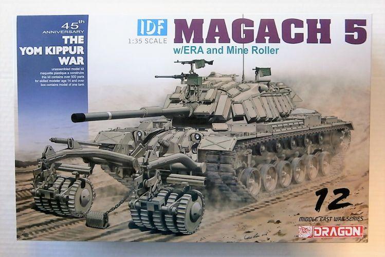 DRAGON 1/35 3618 IDF MAGACH 5 W/ERA AND MINE ROLLER