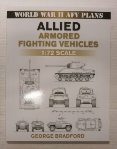 CHEAP BOOKS  ZB3382 AFV PLANS ALLIED ARMORED FIGHTING VEHICLES 1 72 SCALE