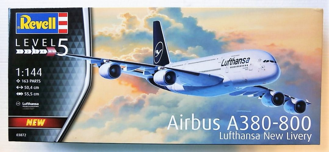REVELL 1/144 03872 AIRBUS A380-800 LUFTHANSA NEW LIVERY