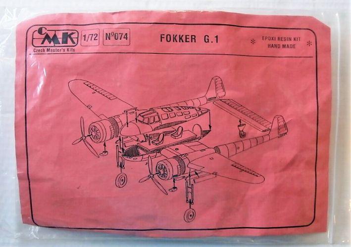 CZECH MASTERS KITS 1/72 074 FOKKER G.1
