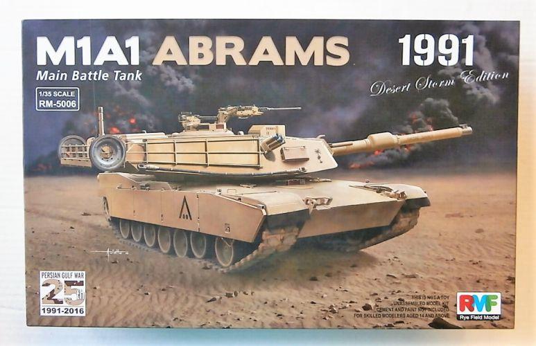 RYE FIELD MODEL 1/35 5006 U.S. MBT M1A1 ABRAMS 1991