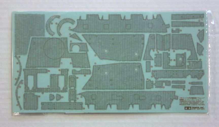 TAMIYA 1/35 12673 ZIMMERIT COATING SHEET FOR BRUMMBAR LATE PRODUCTION