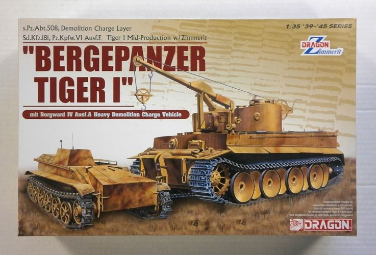 DRAGON 1/35 6865 BERGEPANZER TIGER I  ZIMMERIT
