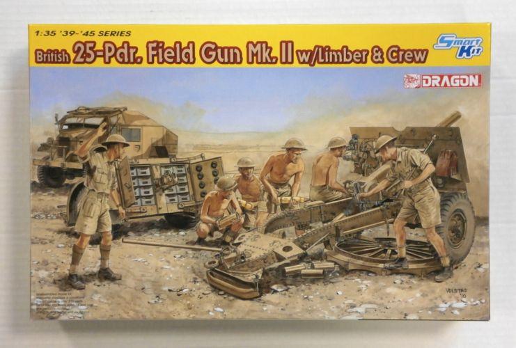 DRAGON 1/35 6675 25-Pdr. FIELD GUN Mk.II w/LIMBER   CREW