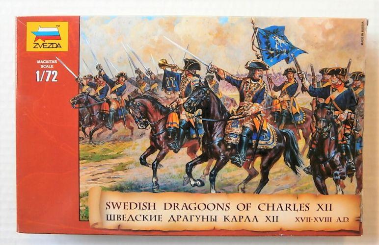 ZVEZDA 1/72 8057 SWEDISH DRAGOONS OF CHARLES XII