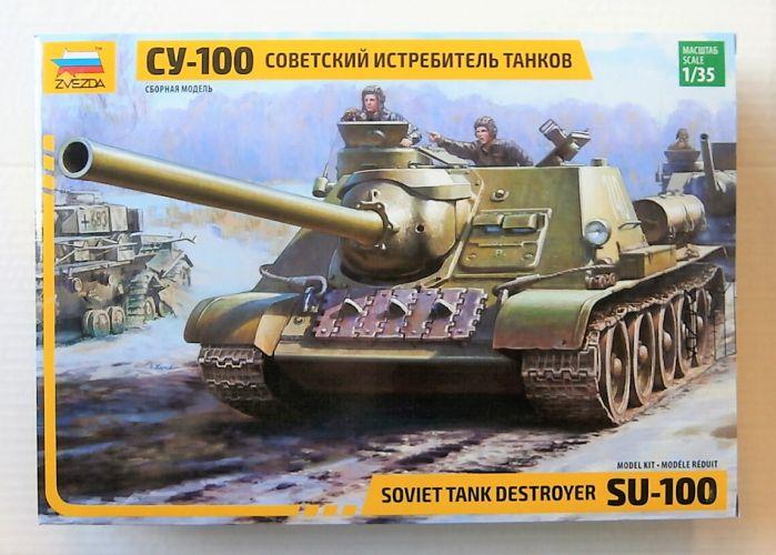 ZVEZDA 1/35 3688 SU-100 SOVIET TANK DESTROYER