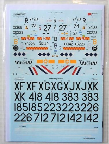 XTRADECAL 1/48 48192 HAWKER HUNTER F.6 PART3