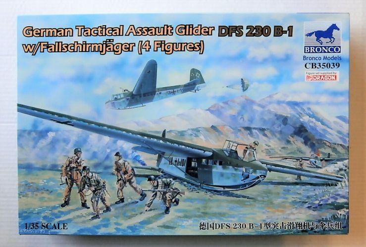 BRONCO 1/35 35039 GERMAN TACTICAL ASSAULT GLIDER DFS 230 B-1 W/FALLSCHRIMJAGER