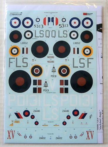XTRADECAL 1/72 72305 100 YEARS OF XV SQUADRON RAF