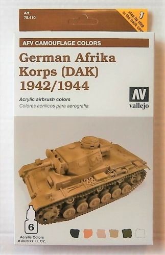 VALLEJO  78410 AFV CAMOUFLAGE COLORS GERMAN AFRIKA KORPS DAK 1942/44