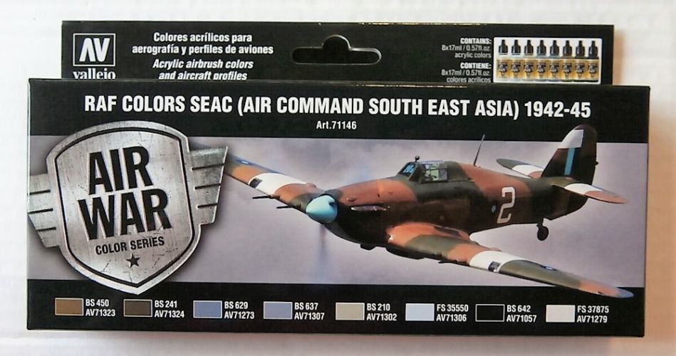 VALLEJO  71146 RAF COLORS SEAC AIR COMMAND SOUTH EAST ASIA 1942-45