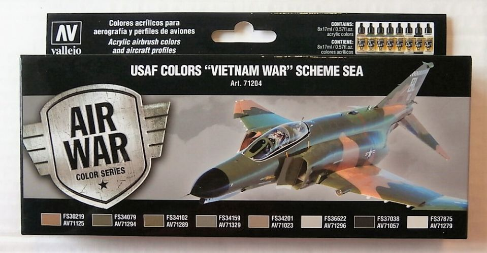 VALLEJO  71204 USAF COLORS VIETNAM WAR SCHEME SEA