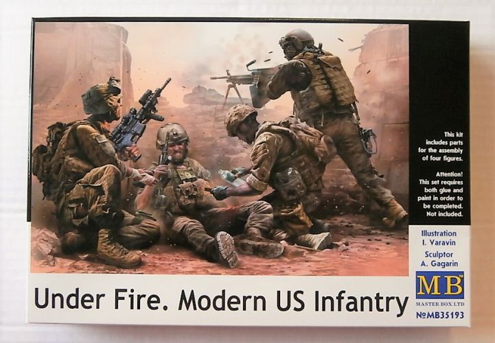 MASTERBOX 1/35 35193 UNDER FIRE MODERN US INFANTRY