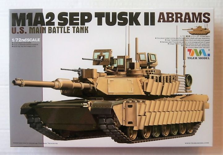 TIGER MODELS 1/72 9601 M1A2 SEP TUSK ABRAMS