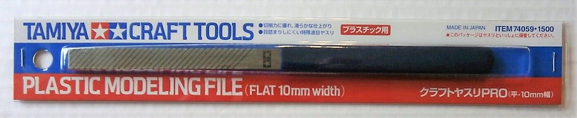 TAMIYA  74059 PLASTIC MODELLING FILE FLAT 10mm WIDTH