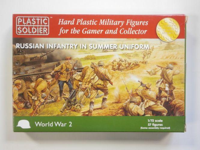 PLASTIC SOLDIER 1/72 WW2020001 RUSSIAN INFANTRY IN SUMMER UNIFORM