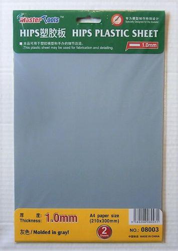 TRUMPETER  08003 1.0MM HIPS PLASTIC SHEET  210X300MM X 2