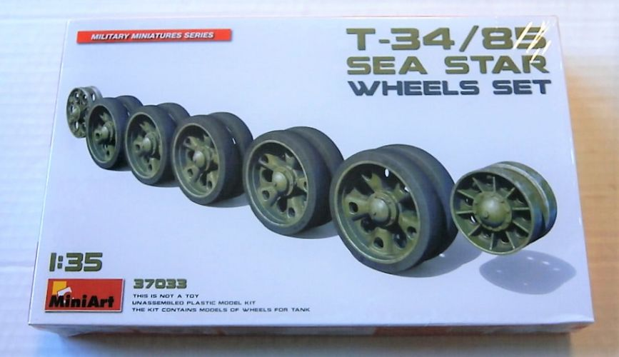 MINIART 1/35 37033 T34/85 SEA STAR WHEELS SET