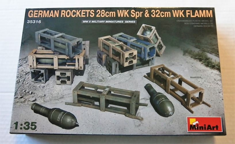 MINIART 1/35 35316 GERMAN ROCKETS 28CM WK SPR AND 32CM WK FLAMM