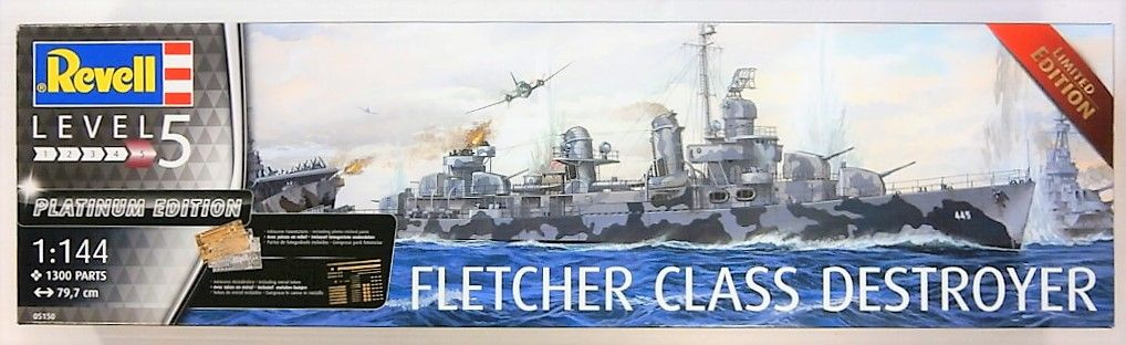 REVELL 1/144 05150 FLETCHER CLASS DESTROYER PLATINUM/LIMITED EDITION