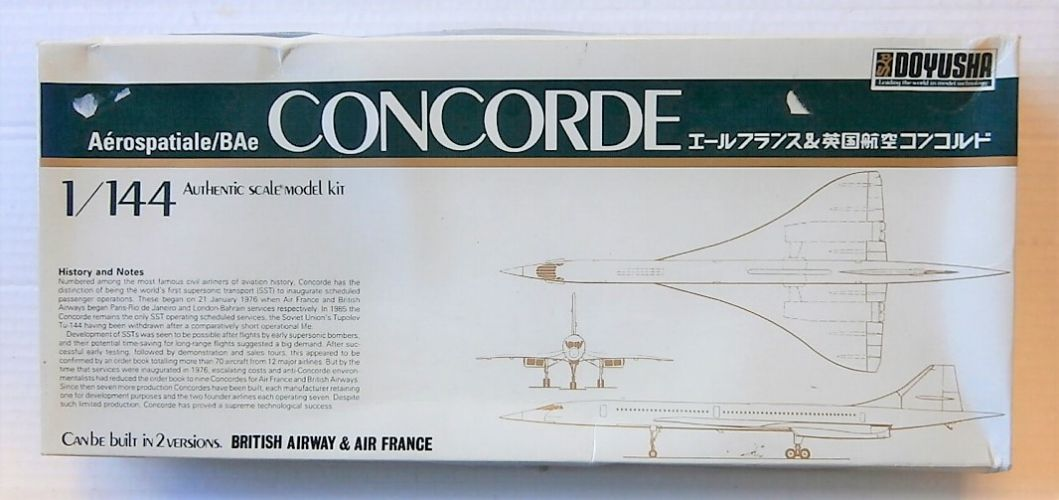 DOYUSHA 1/144 144 CONCORDE BRITISH AIRWAYS   AIR FRANCE