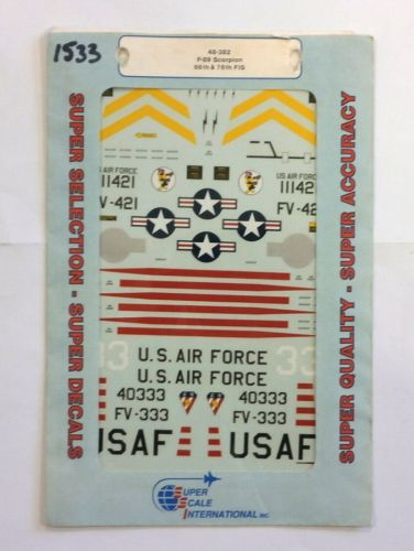 SUPER SCALE INTERNATIONAL 1/48 1533. 48-382 F-89 SCORPION 66th   76th FIS