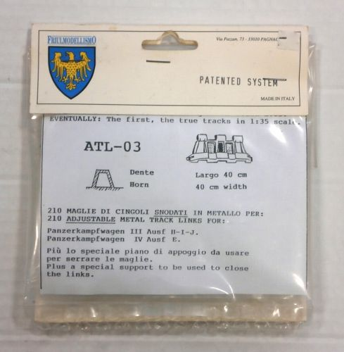 FRIULMODEL 1/35 ATL-03 METAL TRACK LINKS PANZERKAMPFWAGEN III Ausf II-I-J. IV Ausf E