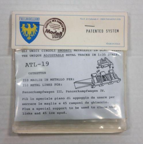 FRIULMODEL 1/35 ATL-19 METAL TRACK LINKS PANZERKAMPFWAGEN III IV