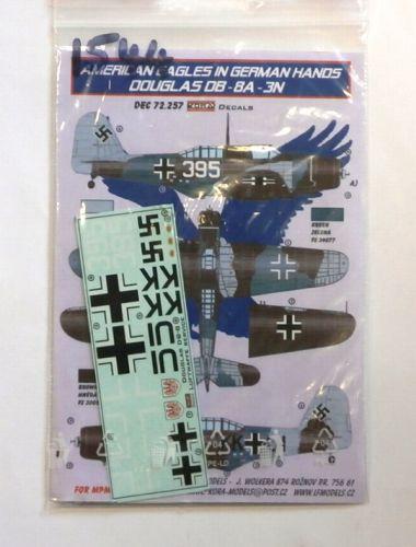KORA 1/72 1544. 72.257 AMERICAN EAGLES IN GERMAN HANDS DOUGLAS DB-8A-3N