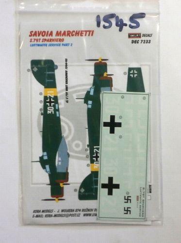 KORA 1/72 1545. 7233 SAVOIA MARCHETTI S.79T SPARVIERO LUFTWAFFE SERVICE PART 2