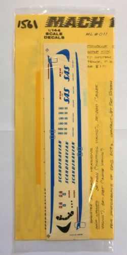 12 SQUARED 1/144 1561. MACH 1 ML011 SCANDINAVIAN DC-9-40
