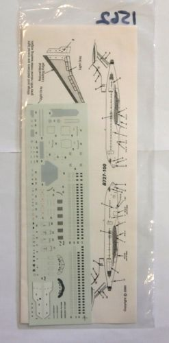 1/200 1562. AVIGRAPHICS AG2092 BOEING 727 DETAIL DECAL