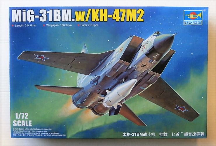 TRUMPETER 1/72 01697 MIG-31BM WITH KH-47M2