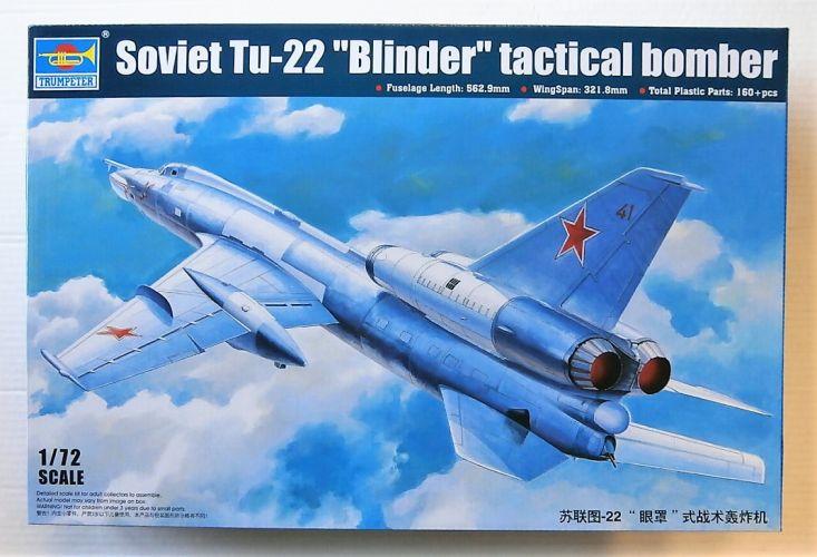 TRUMPETER 1/72 01695 SOVIET TU-22 BLINDER TACTICAL BOMBER