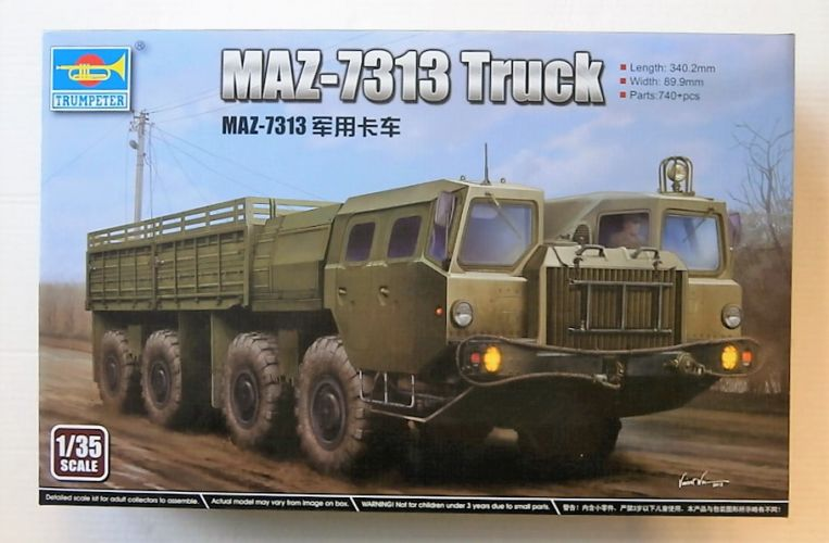 TRUMPETER 1/35 01050 MAZ-7313 TRUCK  UK SALE ONLY