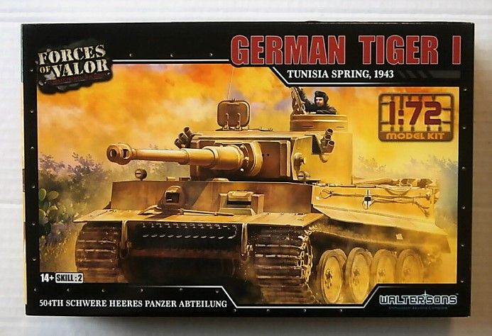 FORCES OF VALOR 1/72 873001A GERMAN TIGER I TUNISIA SPRING 1943