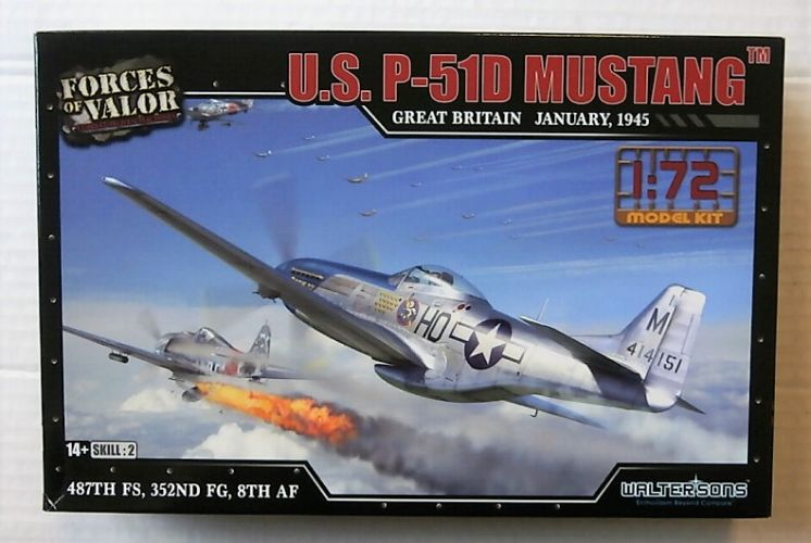 FORCES OF VALOR 1/72 873010A U.S. P-51D MUSTANG GREAT BRITAIN JAN 1945 487TH/ 352ND FG/ 8TH AF