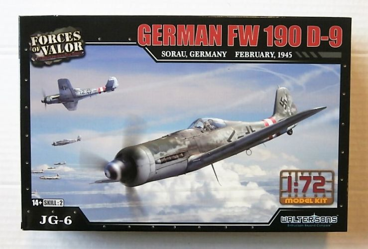 FORCES OF VALOR 1/72 873012A GERMAN FW 190 D-9 SORAU GERMANY FEBRUARY 1945