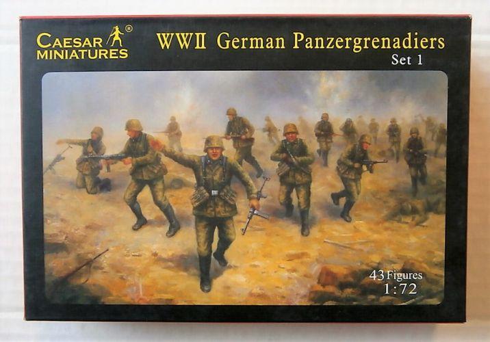 CAESAR MINATURES 1/72 052 WWII GERMAN PANZERGRENADIERS