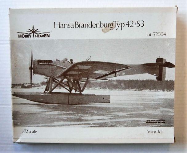 HOBBY HEAVEN 1/72 72004 HANSA BRANDENBURG TYPE 42/S3