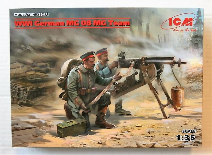 ICM 1/35 35711 WWI GERMAN MG 08 MG TEAM
