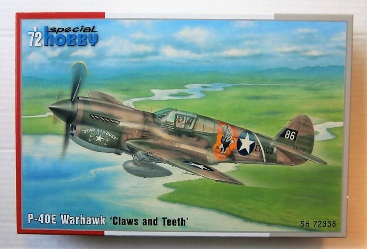 SPECIAL HOBBY 1/72 72338 CURTISS P-40E WARHAWK CLAWS AND TEETH