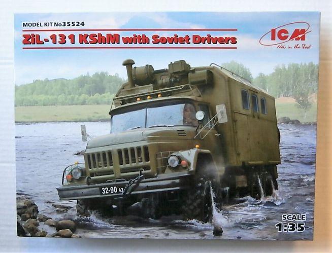 ICM 1/35 35524 ZIL-131 KSHM WITH SOVIET DRIVERS