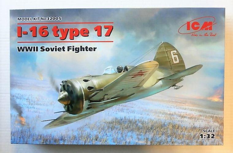 ICM 1/32 32005 POLIKARPOV I-16 TYPE 17 WWII SOVIET FIGHTER