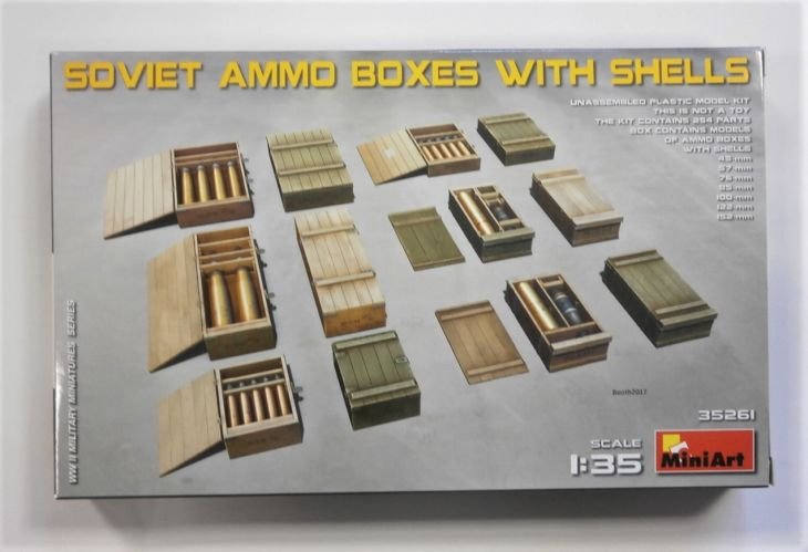 MINIART 1/35 35261 SOVIET AMMO BOXES WITH SHELLS