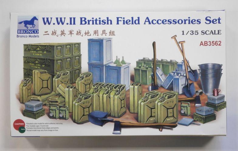 BRONCO 1/35 3562 W.W.II BRITISH FIELD ACCESSORIES SET