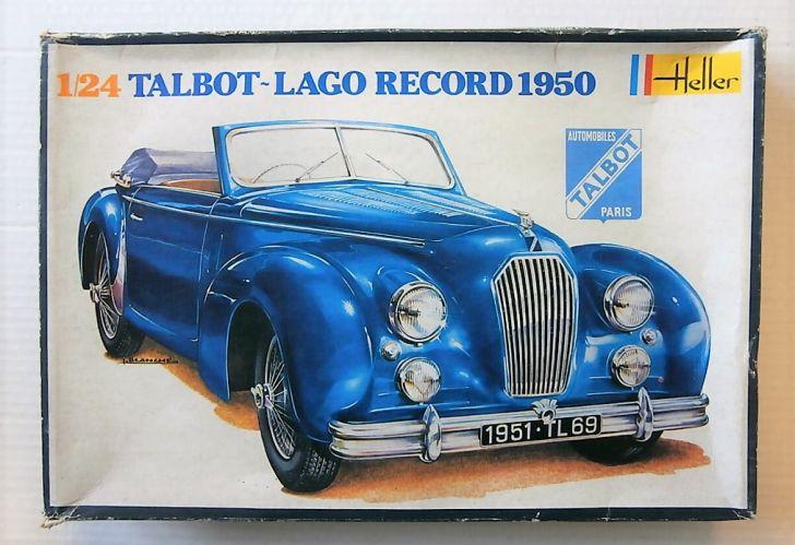 HELLER 1/24 711 TALBOT-LAGO RECORD 1950