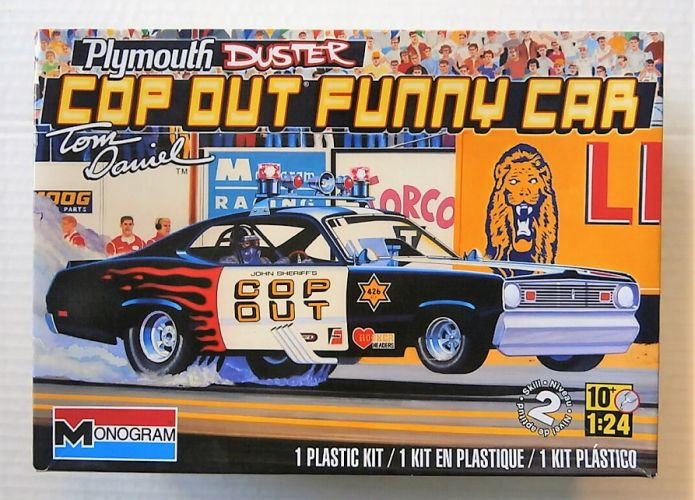 MONOGRAM 1/24 4093 PLYMOUTH DUSTER COP OUT FUNNY CAR
