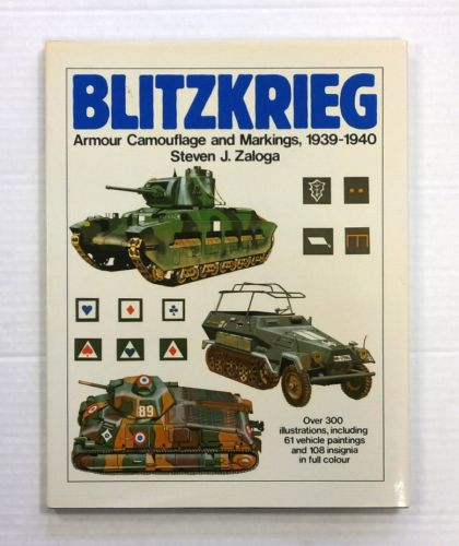 CHEAP BOOKS  ZB845 BLITZKRIEG ARMOUR CAMOUFLAGE AND MARKINGS 1939-1940