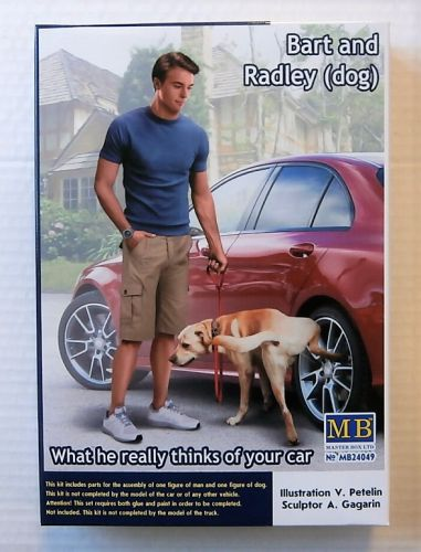 MASTERBOX 1/24 24049 BART AND RADLEY  DOG  WHAT HE REALLY THINKS OF YOUR CAR